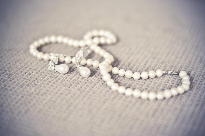 Jenn's pearl jewelry.