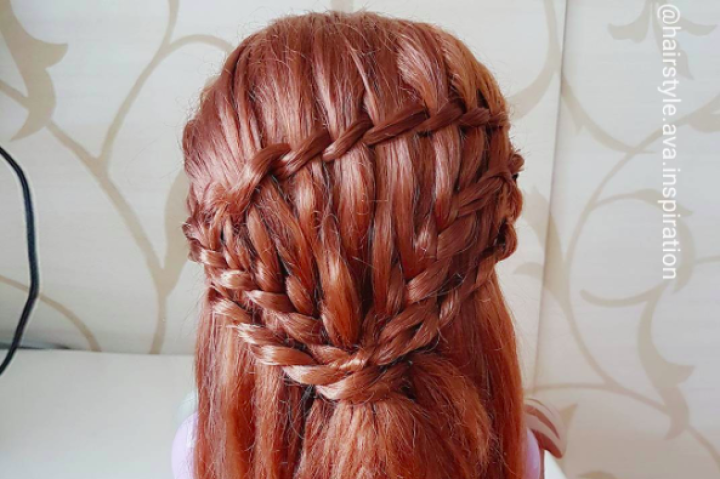 Cascading Waterfall Braids