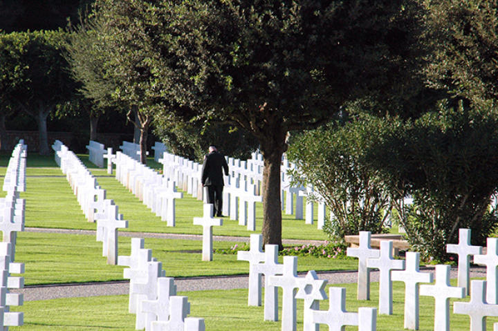 The North African American Cemetery in Tunis, Tunisia, established in 1948, which holds the graves of 2,841 service members who died while serving during the World War II North Africa campaign.