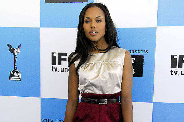 Kerry Washington at an event in 2007: Clinton says,