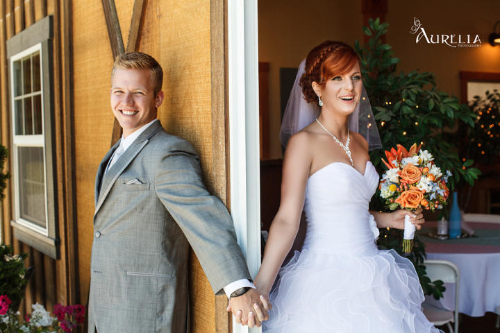 Karen planned a fairytale wedding, and she even arrived by horse and carriage. |