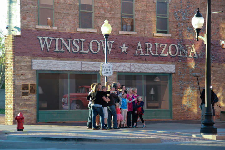 """""""Standin' on the corner in Winslow, Arizona"""" with the """"Sister Wives."""" The"""