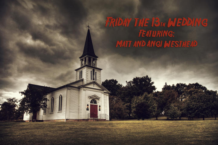 Angi and Matt planned a spooky affair for their wedding day.