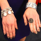 Marble Cuff by Pono, Bracelet by Ben Amun, Gem Bracelet by Stephen Dwe