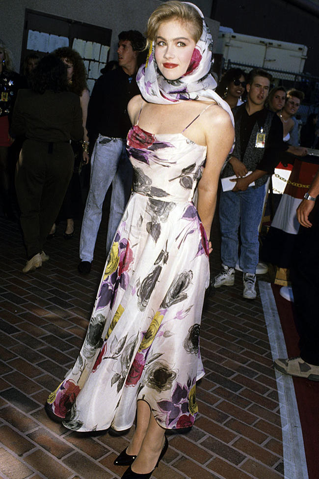 Christina Applegate at the 1989 MTV Video Music Awards.