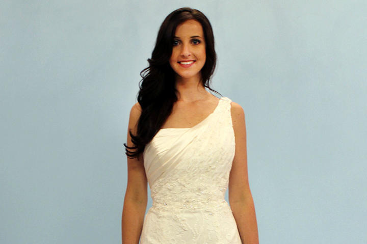Sharon needed a dress for an Indian-American fusion wedding. For her