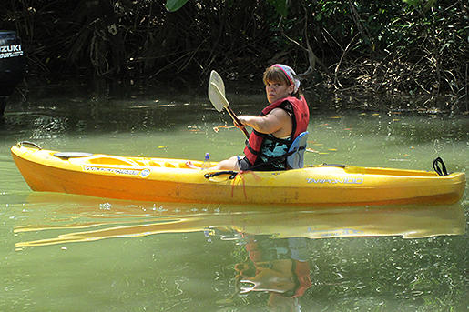 The Roloffs latest adventures take them deep into the jungles of Costa Rica. In this photo, Amy tries her hand at kayaking.