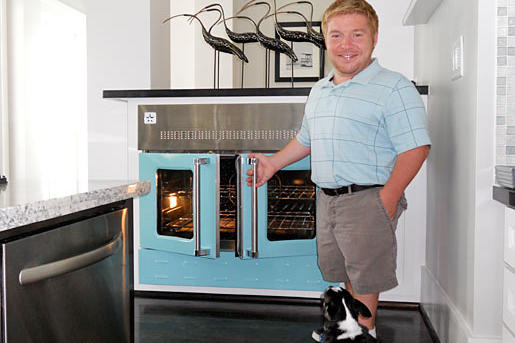 Even the oven was customized. Now they're ready to entertain!