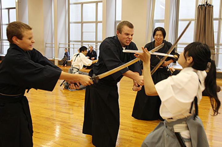 Samurai training was top of the list of activities for the Duggar men.