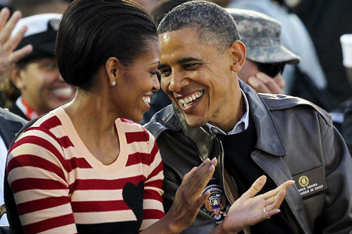 How in love is our President with his First Lady? Barack and Michelle Obama don't hesitate to show a little affection in public.