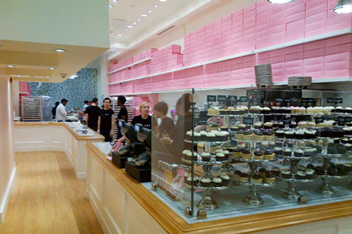 The new, finished Georgetown Cupcake Soho!