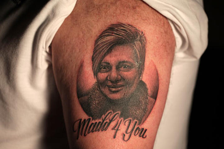 NY Ink tattoo artist Tim created this tribute to Maddalena for Mauro.