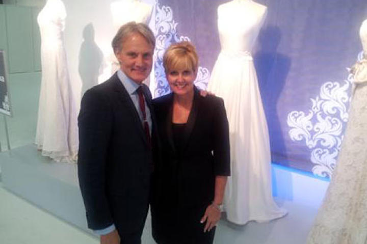 Flip through photos that Say Yes to the Dress: Atlanta's Monte snapped at Bridal Market with Lori!