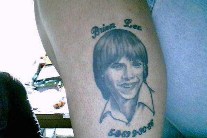 Janet B. has a memorial tattoo of her brother.