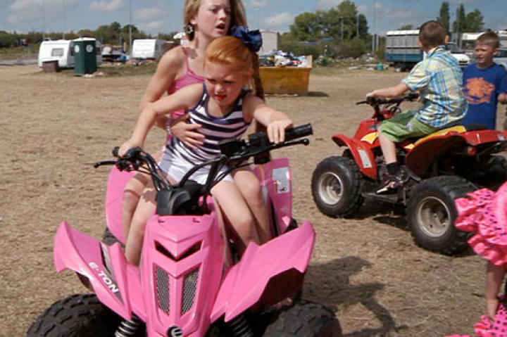 If gypsy girls are going to drive ATVs, you can bet they'll be pink!