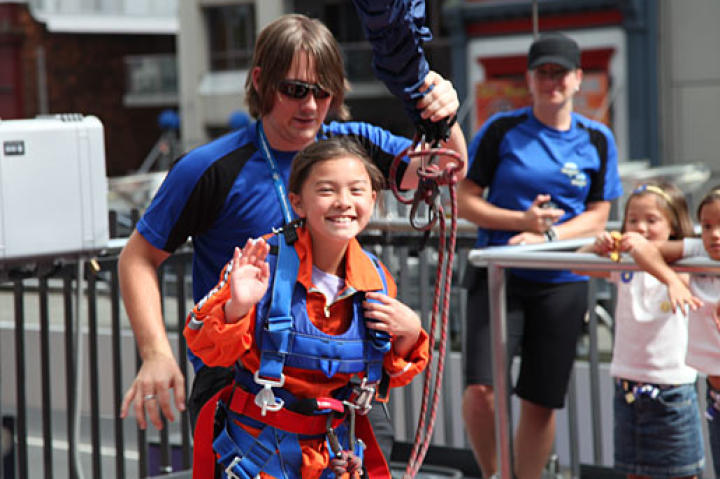 Mady Gosselin is all smiles after their Sky Jump adventure!
