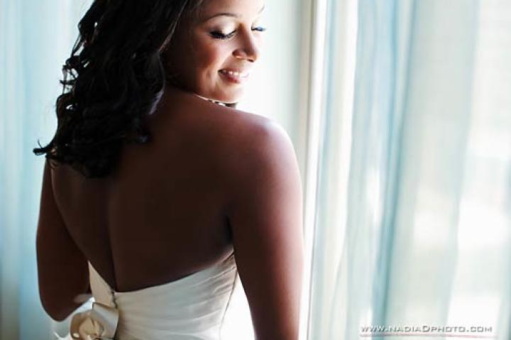 Asha Jennings on her wedding day.