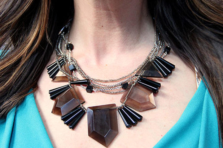 Black Beaded Necklace by