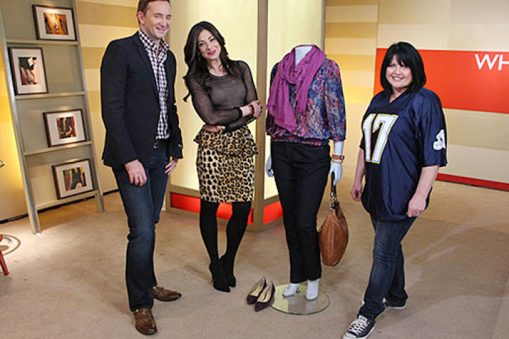 Can Stacy and Clinton convince Tina to get into a more fitted, colorful wardrobe?