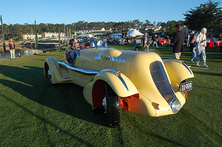 Parking Yellow Car at Concours d Elegance as seen on the Monterey Week 2007.