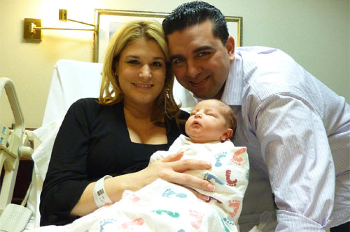 It's a boy!  Baby Carlo Salvatore was born February 14, 2011, at 5:11 p.m., weighing 7 lbs. 3 oz. and 20 inches long.