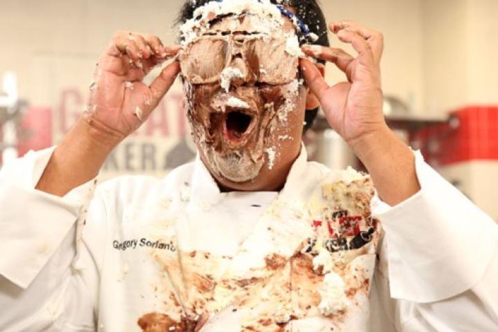 Contestant Greggy Soriano gets CREAMED.