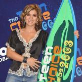 Kelly Clarkson with her 2003 Teen Choice Award.