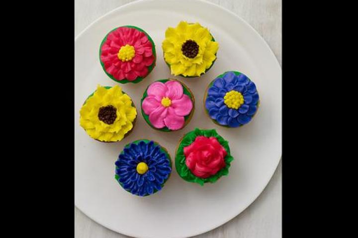 Flower power: Created for Mother's Day, Carlo's beautiful floral cupcakes are now available all year long.