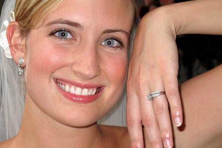 Emily and her wedding ring.