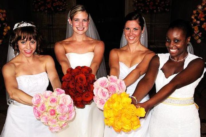 Brides (left to right): Nyle, Emily, Chelsea, and Shayla.