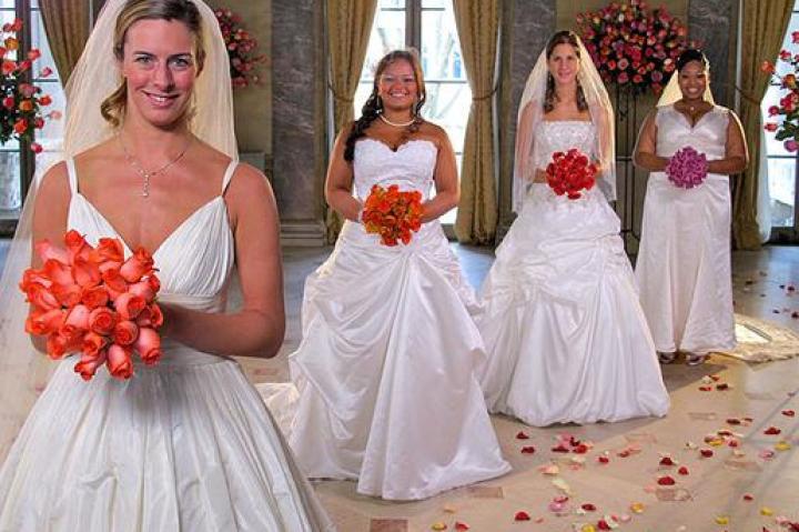 Meet the four brides: Danielle, Dawn, Kally, and Kitty.
