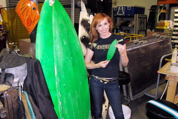 Can a surfboard tied to the top of a car be lethal? Kari Byron shows off the small-scale replica she fashioned at NASA.