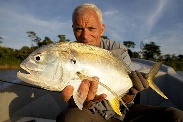 Jeremy Wade with a tarpon.