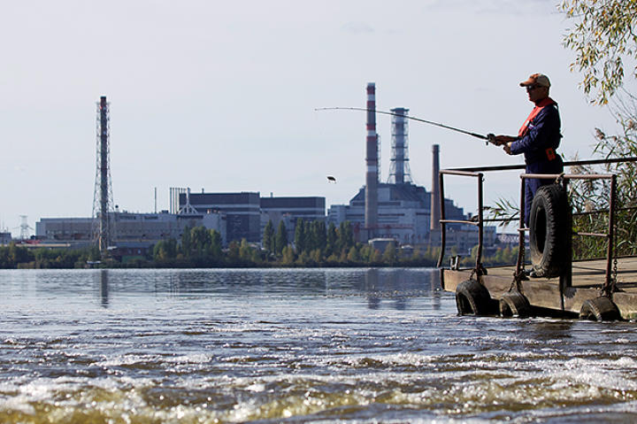 Jeremy Wade fishing in Chernobyl.