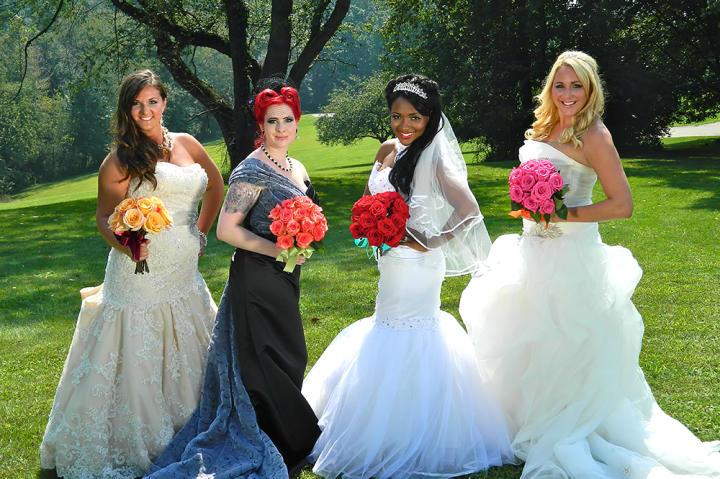 Four Weddings, four brides.