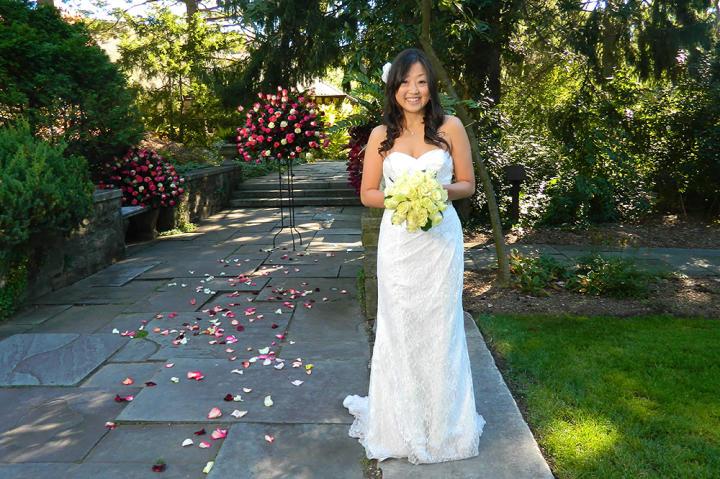 Jenny in her wedding dress.