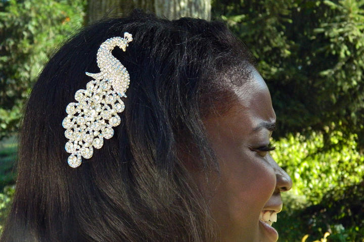 Anthonia's hair piece.
