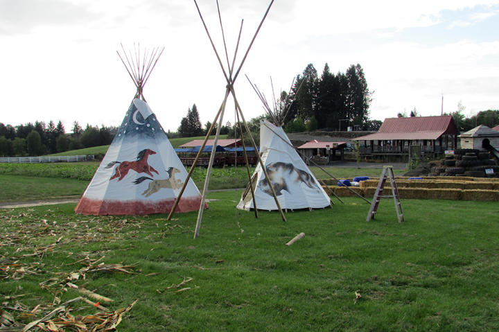 Teepees welcome visitors to the Fun Zone at Roloff Farm.