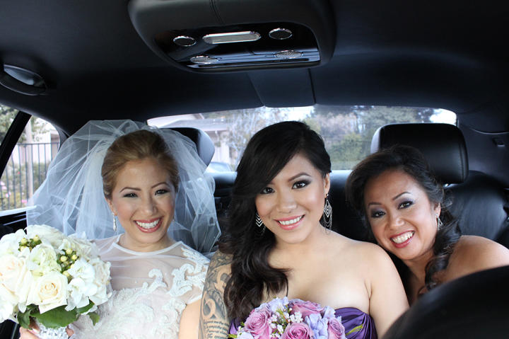 Joi is photographed on her wedding day with her niece and sister, who appeared with her on the show when she chose her Something Borrowed dress.