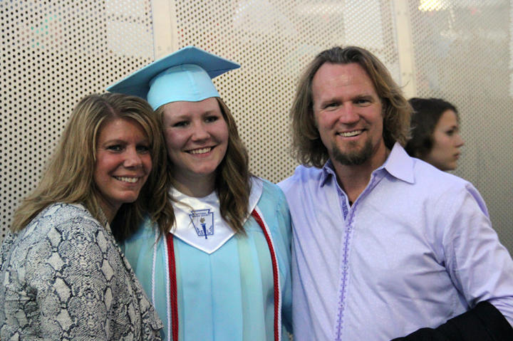 """Here, the """"Sister Wives"""" mom is pictured at her daughter Mariah's graduation."""