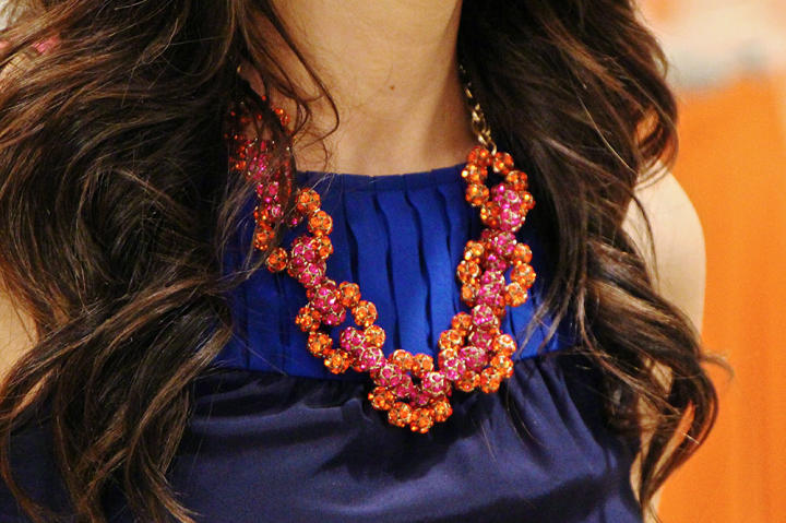 Orange/Pink Necklace by J. Crew