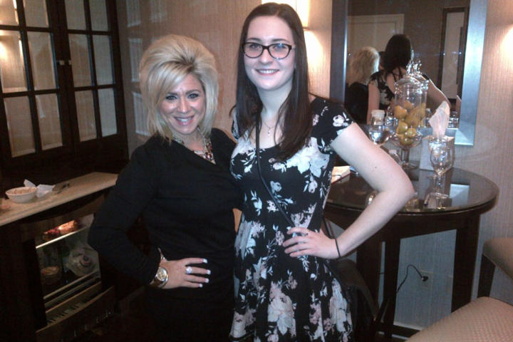 Several lucky Long Island Medium fans won private readings with Theresa Caputo last season. Here Theresa poses with contest winner Rebecca Snyder.