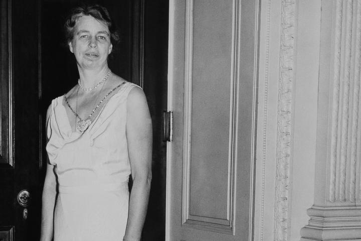 Eleanor Roosevelt Wearing A Sally Milgrim Creation In Washington On January 1937