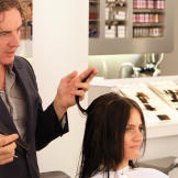 Kate experiences the luxury of having her hair cut and styled at a pro