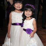 Joi's flower girls at her shabby chic-themed wedding.