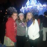 Meri, Mariah, and Aspyn at Disneyland last Christmas. Meri shared her