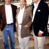 Chris O'Donnell with his parents at the 1993 film premiere of