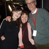 Zooey Deschanel with her parents, Mary Jo and Caleb at the 2004 Sundan