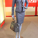 Gray Skirt Suit and Print Blouse from Tahari/