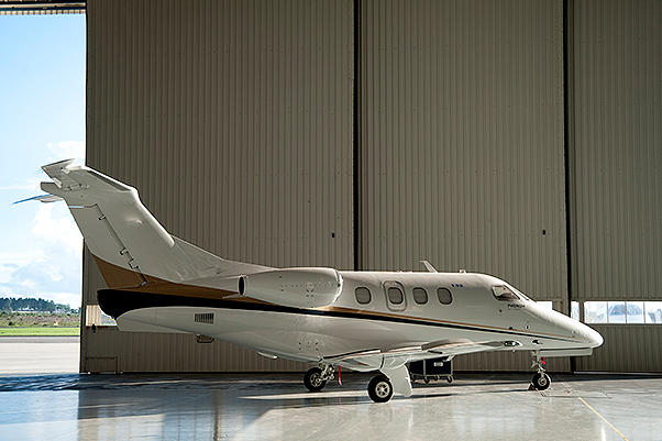 Of COURSE it's an Embraer Phenom 100 a light little business jet from Embraer Brazil. A lot of you guessed correctly but interestingly enough many of you also guessed Cessna Citation Mustang.